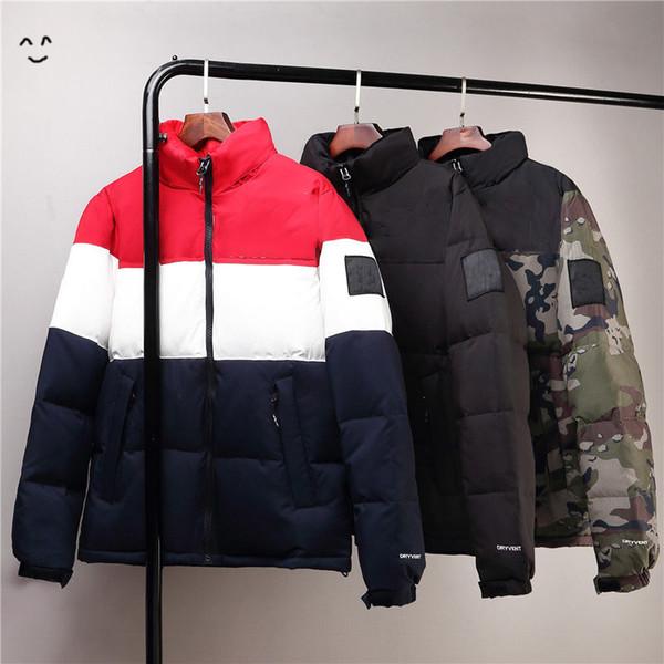 Мужские куртки хип-хоп зима осень с капюшоном Толстые вниз пальто зимы для мужчин Женщины Альпинист Марка куртка молния Luxury Tops Ветровка пальто