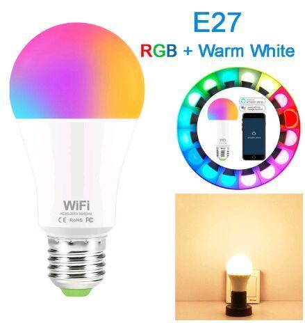 E27 RGB branca morna