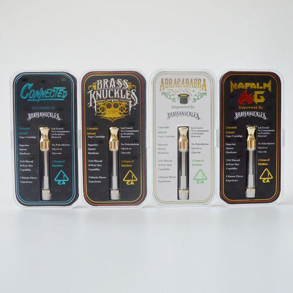 2019 Hot Sale BRASS KNUCKLES Atomizer 1 0ML Gold Empty Vape Pen Cartridges  Ceramic Coil Vaporizer Pen 510 Thread E Cigarette Atomizers Perfume Best