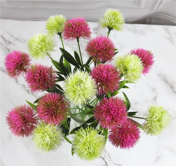 Simulation Plant For Artificial Flowers Single Stem Plastic Flower Wreaths Wedding Decorations Home Garden Table Centerpieces AN1979