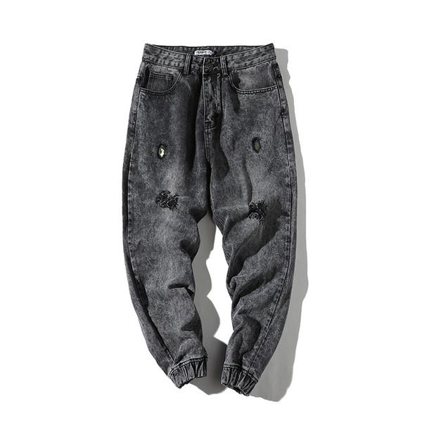 Sonbahar ve Kış 2018 Erkek Hollow Jeans Japon Gevşek Hallen Casual Ayakkabı