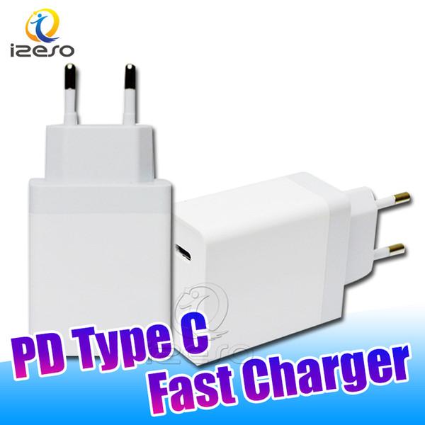 USB зарядное устройство C PD Мощность Delivery Высокоскоростная стены переходники Складная штепсельной вилки Прямая зарядки Совместимость с iPhone 11 Pro XR XS X izeso