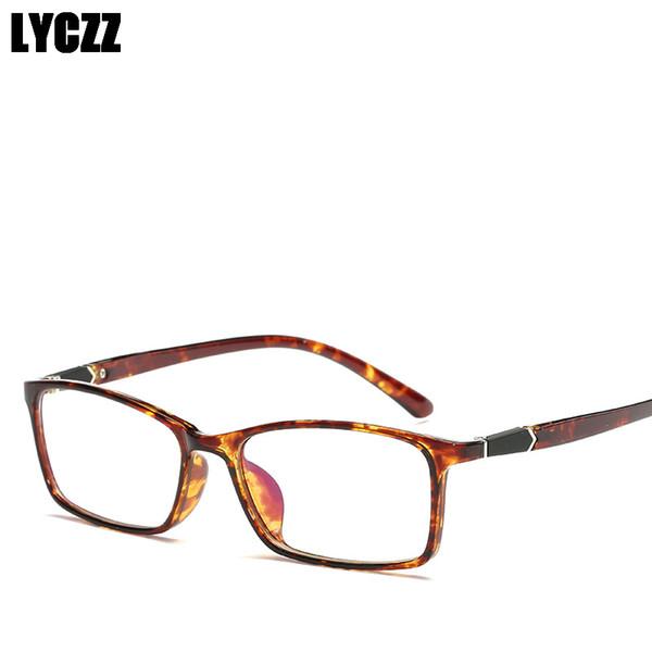 LYCZZ Flexible Myopia Eyeglasses Plain Lens TR90 Myopic Glasses Frame Unisex Optical ShortSight Eyewear oculos de sol feminino