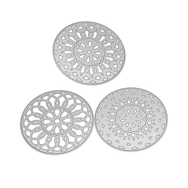 3pcs/set Stackable Circles Metal Cutting Dies for Scrapbooking 3D Stencils Embossing Crafts Cut Dies Template Paper Album Making