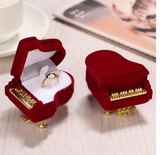 Caja de anillo de piano Pendiente de embalaje Caja de regalo de caja de almacenamiento de caja de joyería pendiente