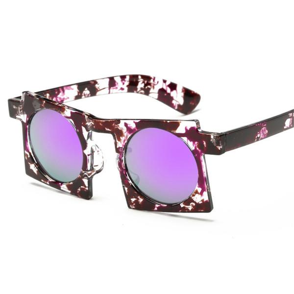 Fashion Square Frame Sunglasses for Women Men Retro Oversized Sun Glasses Brand Designer Female UV400 Sunglass Mirror Shades