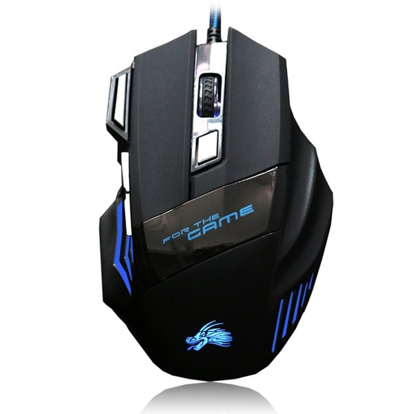 High Quality Professional Wired Gaming Mouse 7 Button 5500 DPI LED Optical USB Wired Computer Game Mouse Mice Cable