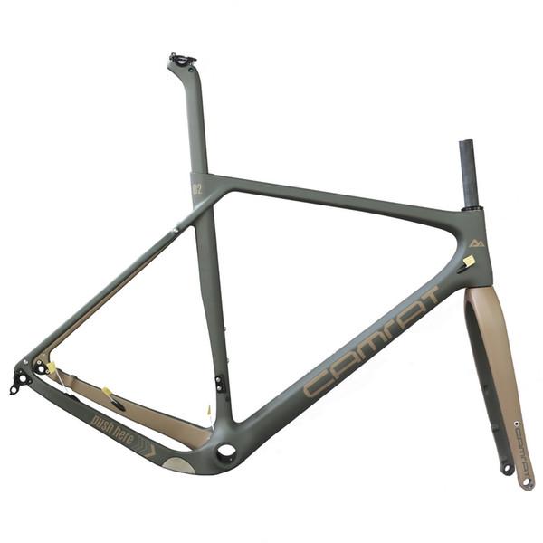 019 Yeni Aero Karbon Cyclocross Bisiklet Çerçeveleri T800 Karbon Çakıl Bisiklet Çerçeve Disk Fren Yol Bisikleti Karbon Frameset