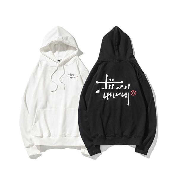 USA Stussys luxury hoodie Spring autumn men designer hoodies Letter print thin section sweatshirt man women tailored pullover casual sweater