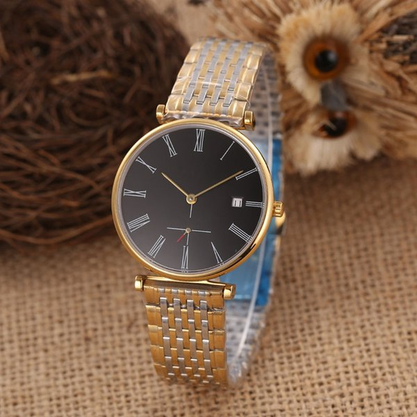 38mm New Mens Watch 316 stainless steel case automatic mechanical movement Auto date sapphire crystal mirror 316 steel strap With box C41