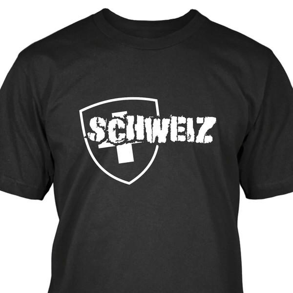 Schweiz T-Shirt Streetwear Komik Baskı Giyim Kalça-Tope Mans T-Shirt Tees Tops Adam Için Yüksek Kalite Daha Iyi