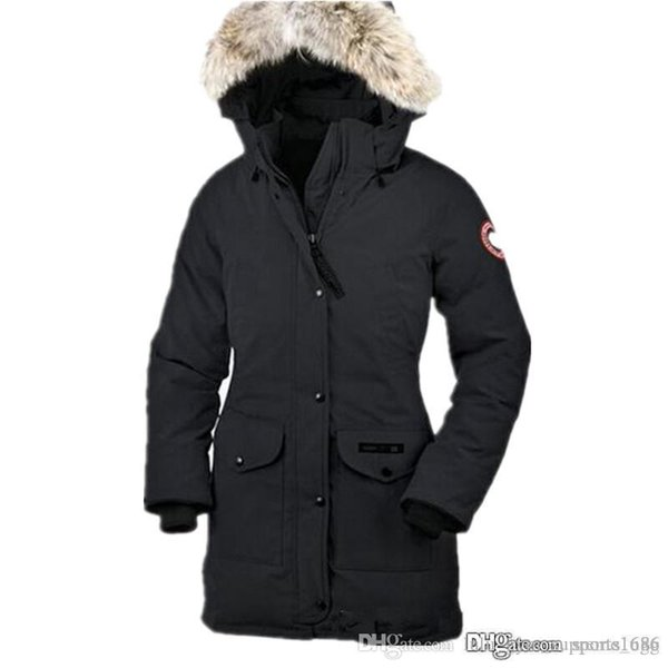 2019 overcoat mens winter warm coat goose chilliwack bomber goose down jacket bomber parka real coyote fur black label women's down par thumbnail