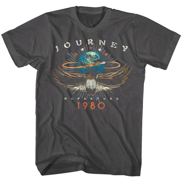 Reise-Abflug-Album-Tour 1980 das T-Shirt der Rock-Weinlese-Konzert MerchFunny der Männer freies Verschiffen Unisex-beiläufige T-Shirtoberseite