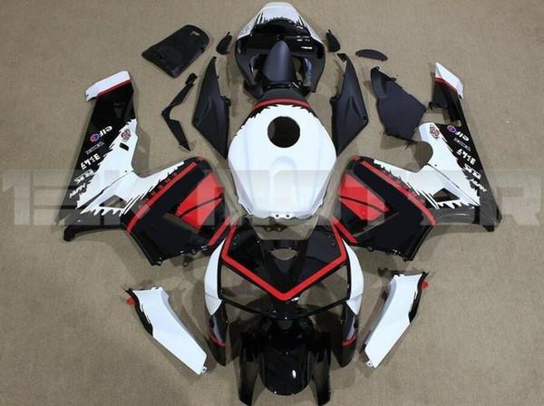 4 Gifts dello stampaggio ad iniezione del nuovo ABS carenature del motociclo Fit Kit per HONDA CBR600RR F5 2003 2004 03 04 600RR carrozzeria impostati nero rosso luce bianca