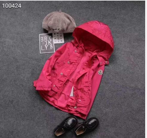 Весной и осенью горячая распродажа нового бренда M дети девочки с капюшоном ветрозащитный хлопок внутренний плащ 3T-12T