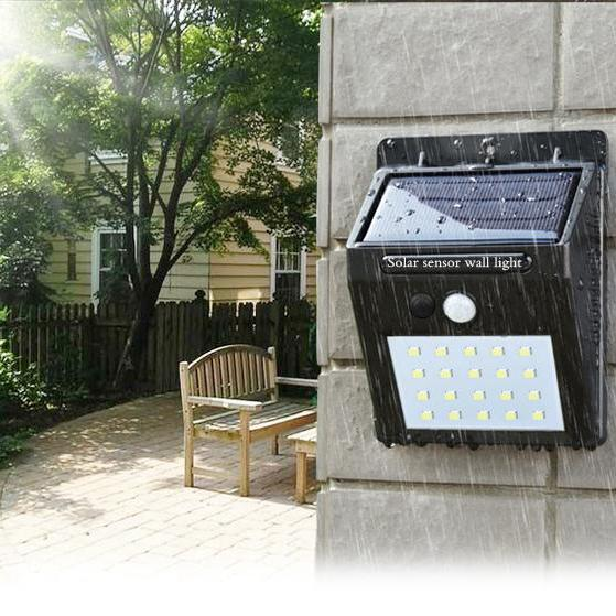 Солнечная энергия LED Солнечный свет Уличные настенные светодиодные солнечные лампы с датчиком движения PIR Ночной безопасности Лампа Уличный Двор Путь Сад лампы Лампа ZZA265