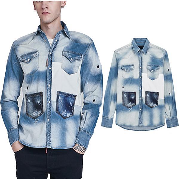 detailed look daf32 b3113 Acquista Camicia A Maniche Lunghe Da Uomo In Denim A Maniche Lunghe Con  Tasca Applicata E Jeans Strappati A $39.6 Dal Itdesign | DHgate.Com