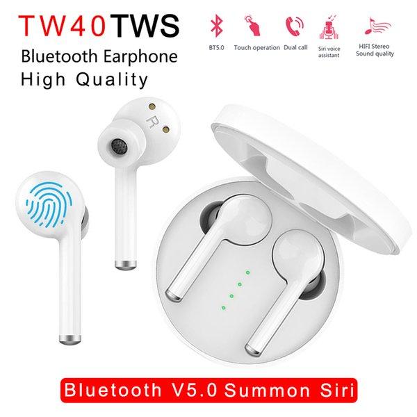 Auriculares Bluetooth inal/ámbricos BT5.0 Touch Control Design Super Mini Auriculares con micr/ófono est/éreo Audio Soporte Siri para iOS Android (Blanco-2)