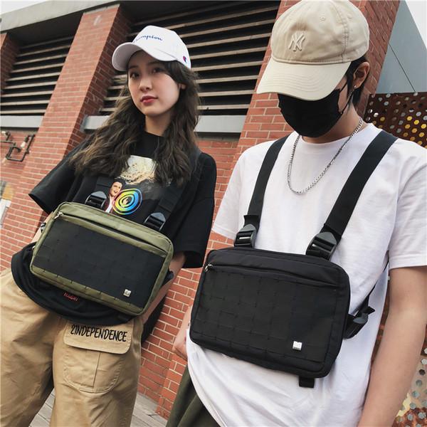 High Quality Men Women Chest Rig Bags Hip Hop Style Streetwear Waist Bag Functional Tactical Cross Shoulder Bags Adjustable Backpack M211F