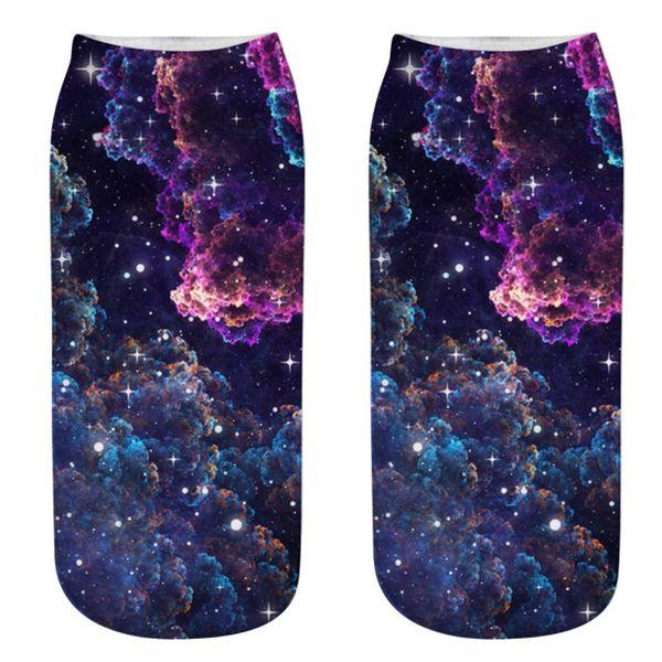 2019 Fashion ladise girls calcetines hip hop Trabajo casual Calcetines de negocios 3D Starry Sky Medium Sports Store vaatteet