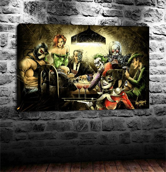 Why I Love Batman Villains,HD Canvas Print Home Decor Art Painting /(Unframed/Framed)
