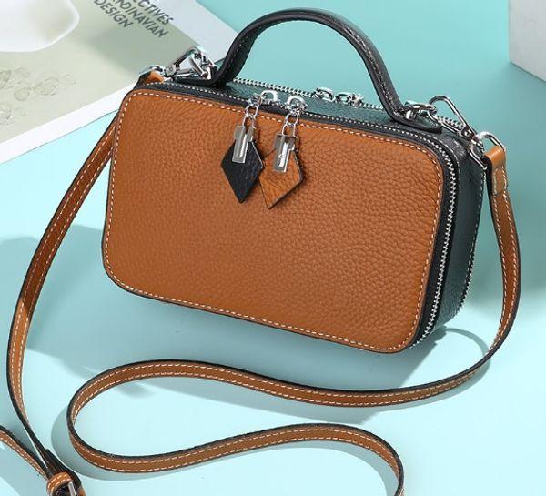 Designer de bolsa de ombro mulheres Mini Flap couro macio 20x12cm Crossbody bolsa bolsa versátil Os preços mais baixos à venda