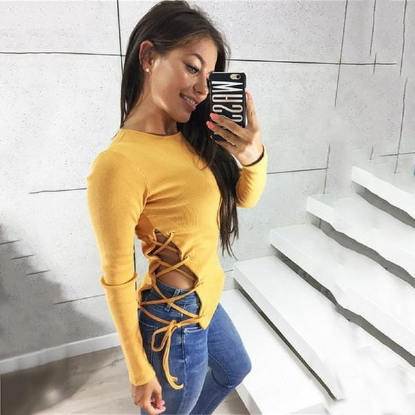 Kadınlar Kazak Katı Renk desiger Sonbahar ve Kış Casual Örme Kazak Süveter Kısa Hırka Uzun Kollu Giyim Boyut S-L Tops