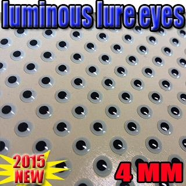 Fishing Fishing Lures 2015new 3d luminous fish eyes in dark night size:4mm quantity:500pcs/lot artificial fish eyes