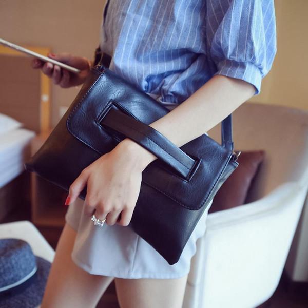 Single Shoulder Bag Adjustable Strap For Women Ladies Fashion Solid Color Pu Leather Crossbody Messenger Hand Bag Handbag Bags