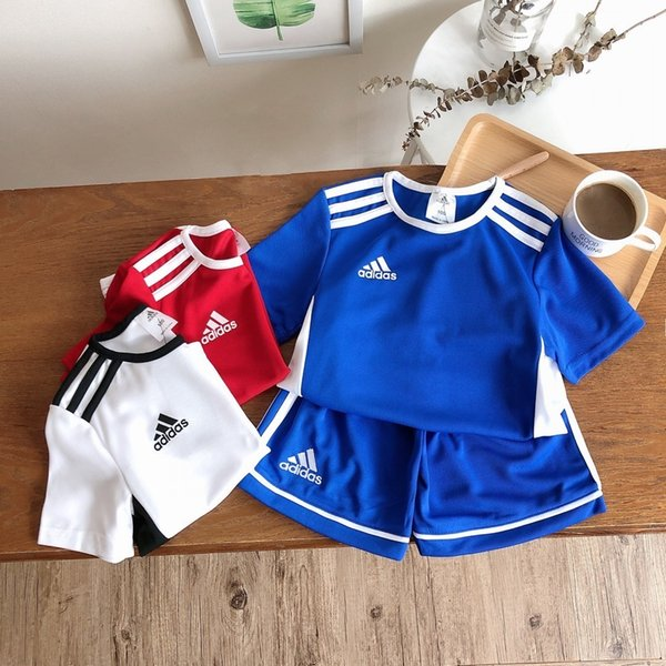 Baby Kids Clothing Boys Two Piece Outfits 2019 Spring And Girl Colour Letter Long Sleeve Sweater + Trousers Leisure Time Motion Suit 0622