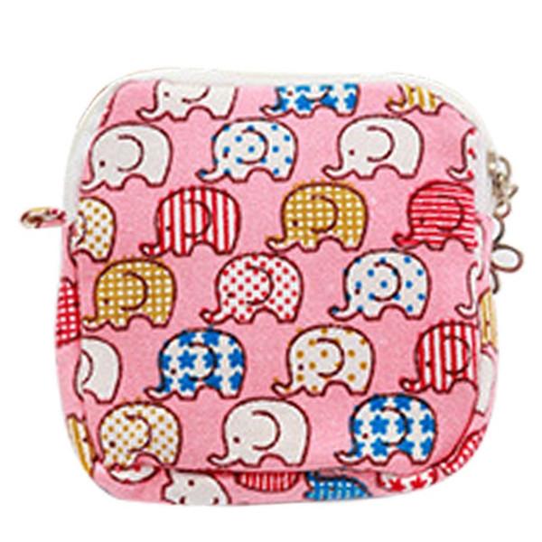 Fashion Women Girl Cute Sanitary Pad Organizer Purse Holder Napkin Towel Storage Bags Cosmetic Pouch Case Sanitary Napkin Bag #87273