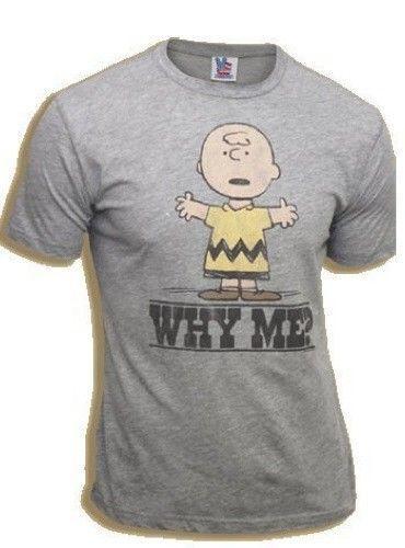Émissions de télévision classiques Peanuts Charlie Brown Pourquoi moi? Tee-shirt gris