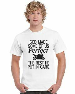 CustomGod a fait certains d'entre nous Perfect Funny CustomTshirt Mens Motorcycle Tee