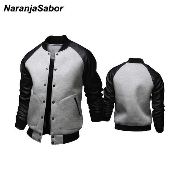 NaranjaSabor 2019 New Herren Jacke Large Pockets Herren Mantel Jacke Slim Button Dekoration Baseball Street Wear Plus Size N527
