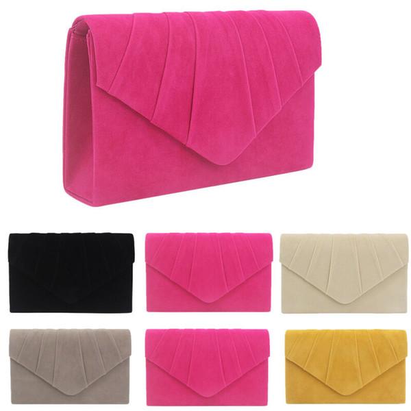2020 Горячая формальная сторона сумки Роскошные сумки конструктора женщин Crossbody сумки Suede Messenger плеча мешок ~