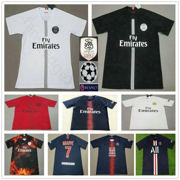 15d89181 19 20 Paris Saint-Germain Notre Dame Soccer Jerseys MBAPPE NEYMARJR DI  MARIA CAVANI Custom