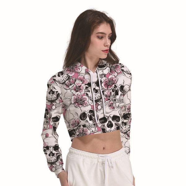 2019 nova chegada das mulheres sweather design para a primavera e outono de manga comprida moda floral impressão curto silm fit camisola availailiable