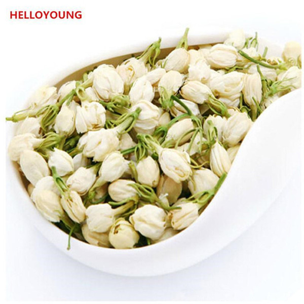 top popular Preference 50g Chinese Organic Green Tea Early Spring Blooming Jasmine Flower Raw Tea Health Care New Spring Tea Green Food 2020