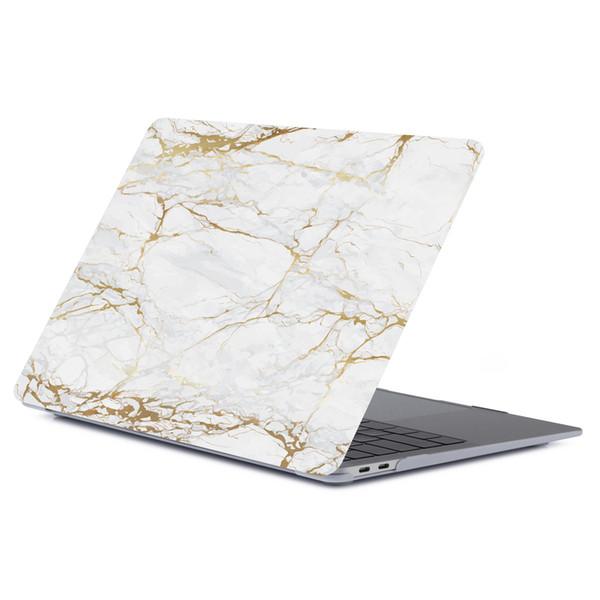 Funda protectora completa para 2018 2019 Nueva Macbook 11.6 12 13.3 Air Pro Retina Laptop Funda de goma de mármol con impresión digital