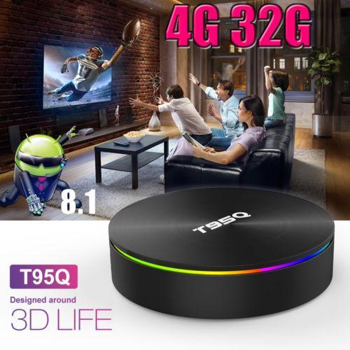 T95Q Amlogic S905X2 Android 8.1 TV BOX Quad Core Network Set Top Box 4GB 32GB Dual WIFI RJ45 Bluetooth 4K Media Player