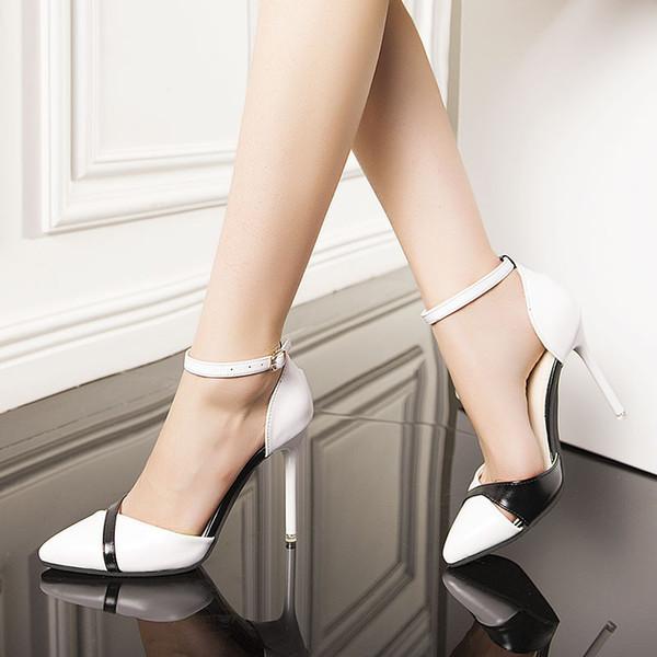 You Buckle One Sharp Portare scarpe Single Girls Air Sexy Fine con scarpe con tacco alto donna Joker Honor2019