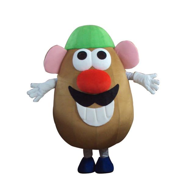 Adulto Sr. Potato Head, traje de mascota, adulto, disfraz, carnaval de dibujos animados, trajes