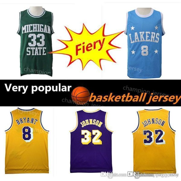 huge discount 531b2 9d6b9 2019 Earvin 32 Laker Kobe 8 Jersey Yellow Purple Bryant Green White  Embroidered Johnson Basketball Jerseys From Page_nine, $27.44 | DHgate.Com