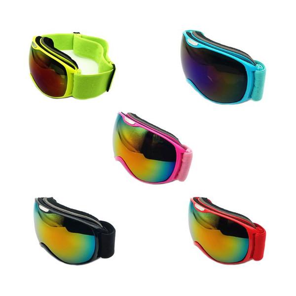 Brille Doppelschichten Linse Sphärische Design Schwamm Pad Anti-Fog UV-Schutz Rutschfeste Kopfband Unisex Kinder Outdoor Zubehör