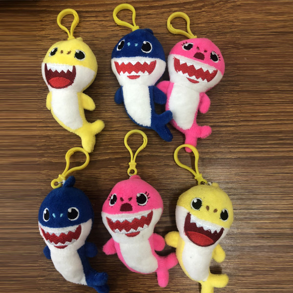 Baby Shark Hanging Accessories Pendant Toy Cartoon Plush Stuffed Toy Kids Party Favor Keychain Home Car Decor