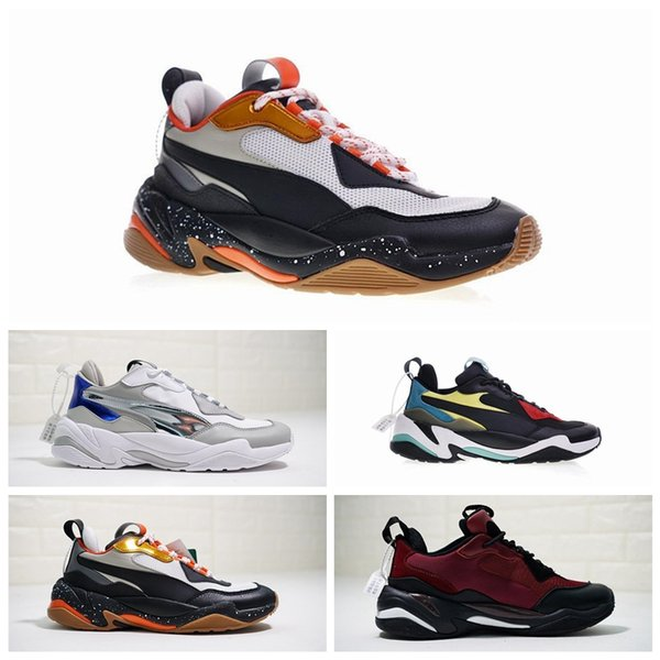 Newest Pum Thunder Spectra Doing Old Genuine Leather Casual Old Dad Shoes Thunder Spectra Breathable Genuine Leather Running Sneakers