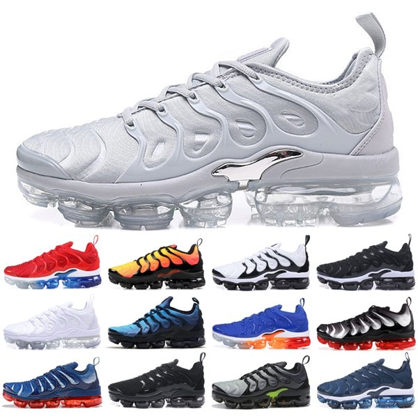 Лучший TN плюс мужчины кроссовки Волк серый закат ультра белый черный тройной черный дизайнер бренда спортивные кроссовки дешевые США 5.5-11