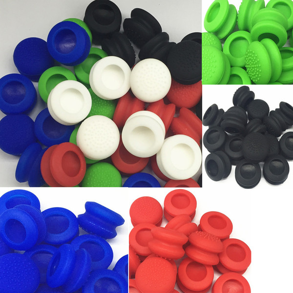50PCS Double Rocker Enhanced Raised Silicone Rubber Analog Stick Thumb Grips Joystick Cover Caps For Playstation 4 PS4 Xbox One