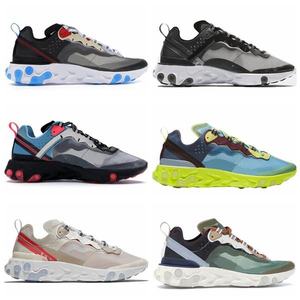 Nike React element 87 Element 87 Undercover Hommes Chaussures De Course Pour Femmes Designer Sneakers Sports Hommes formateur Chaussures Voile Light Bone Royal Tint