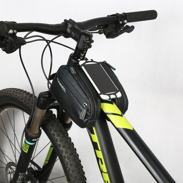Waterproof Bicycle Bag Mobile Phone Bag Include Mobile Phone Shell Black